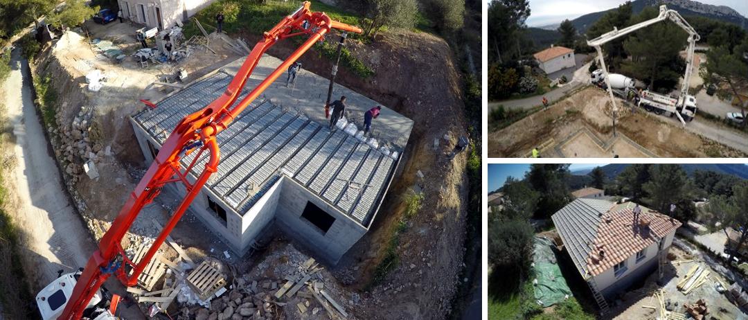 BTP photo par drone - suivi de chantier - www.pixair83.fr