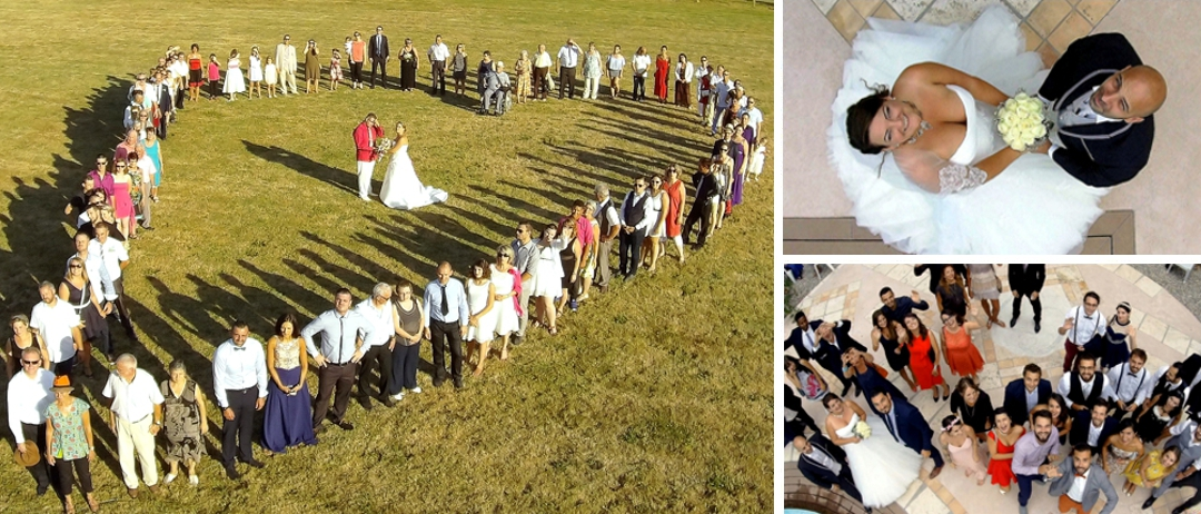 photo mariage drone - www.pixair83.fr